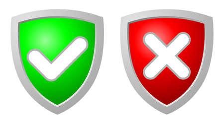 negar: Aceptaci�n y rechazo de escudos de seguridad