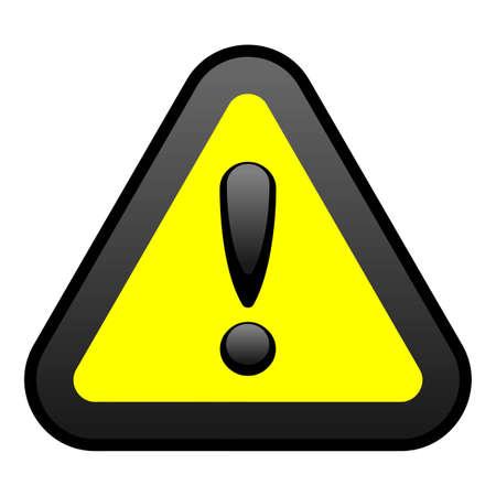 Żółty znak ostrzegawczy