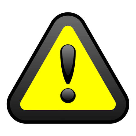 triangular warning sign: Yellow Warning Sign Illustration