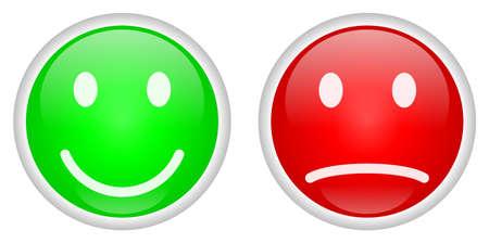 Positieve en negatieve knoppen