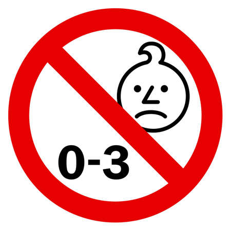 Age warning sign Illustration