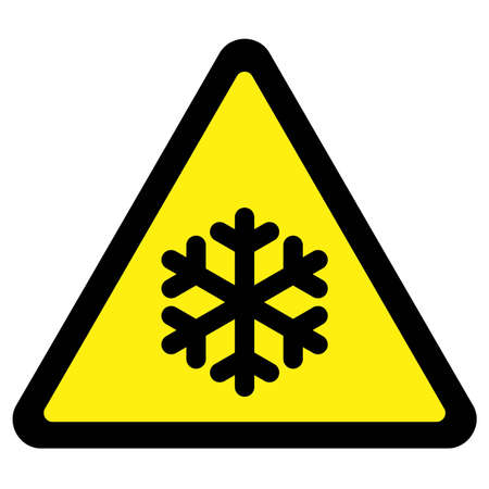 Cold Warning Sign Stock Vector - 9399322