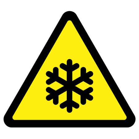 Cold Warning Sign Illustration