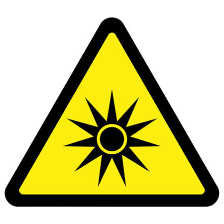 Optical Radiation Warning Sign Stock Vector - 9668318