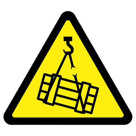 box weight: Suspended Load Hazard Sign