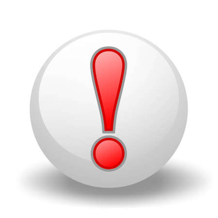 Exclamation symbol On Ball Stock Photo