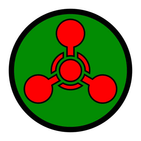 chemical weapon symbol: Chemical Weapon Symbol Illustration