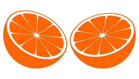 Orange Bisected In Half Illustration