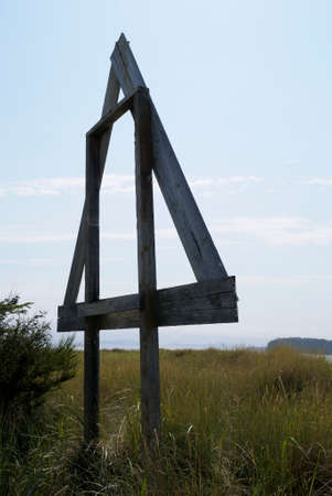 Old navigational aid at the forest