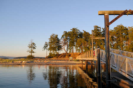 Sidney Spit, Gulf Islands National Park Reserve of Canada, British Columbia, Canada Éditoriale