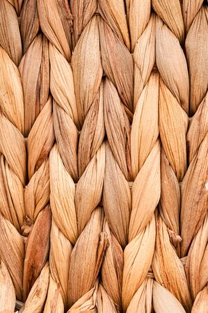 Rustic natural wicker texture. Braided pattern macro photography. Ecological materials design. Reklamní fotografie