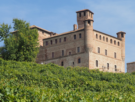 cuneo province: The ancient medieval castle on the hills of Grinzane Cavour city, in the Cuneo province of Italy, a Unesco world heritage. Editorial