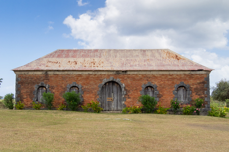 rhum: Manor house in the Roussel Trianon sugar plantation of Marie Galante near Guadeloupe. It was among the biggest sugar canes transformation plants of the island.
