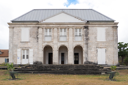 marie: Facade of Habitation Murat in Marie Galante, ancient slaves house and sugar factory