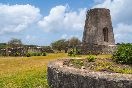 Ancient mill of Roussel Trianon plant, Marie Galante, Guadeloupe