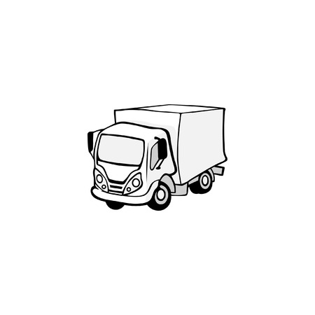 Truck isolated on white background. Vector illustration of a truck
