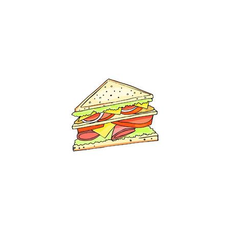 sandwich, vector clip art