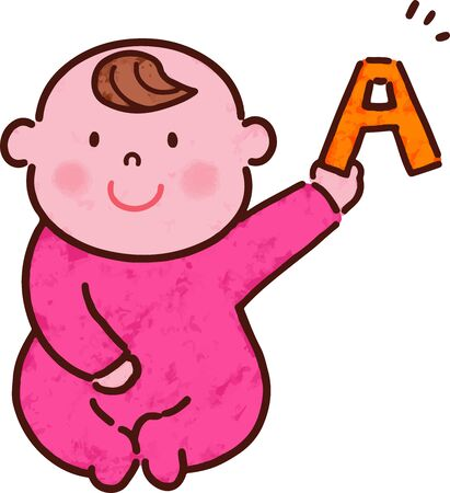 Baby have alphabet with main line