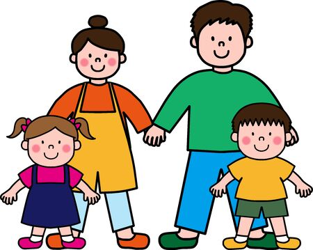Happy Family group illustration