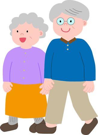 Old couple whole body lick angle
