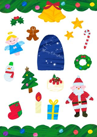 Christmas Accessories Set illustration