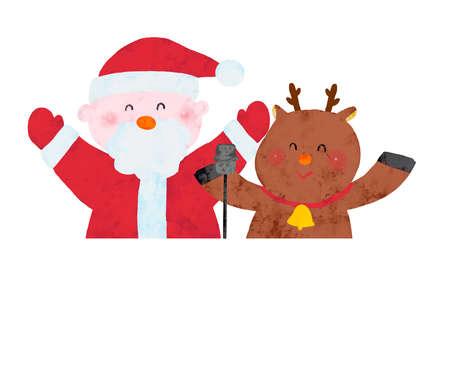 Comedy Combi Santa & Reindeer Upper Body