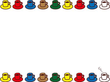 Colorful mug frame  イラスト・ベクター素材