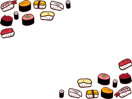 Lined diagonally sushi frame