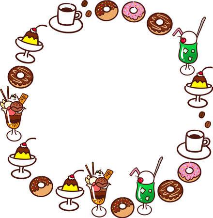 Cafe round frame