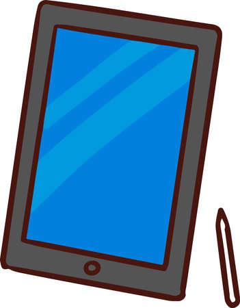 Tablet and pen Vektorové ilustrace
