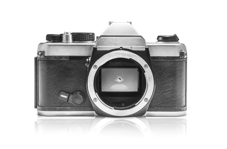 reflect: Vintage Camera without lens reflect shadow