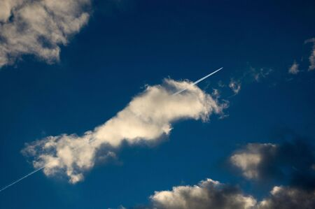 jet in clouds Stock Photo - 8020172