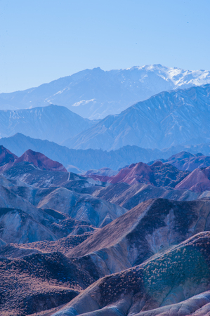 landforms: Zhangye city, Gansu province Stock Photo