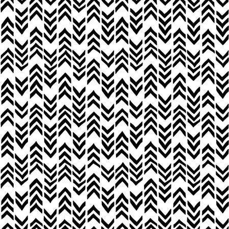 Chevron seamless pattern. Hand-drawn zig zag in black on a mural background. Weaving pattern. Vector illustration for paper, textile and style teenager, teens and children. 向量圖像