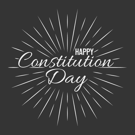 Happy Constitution Day! Vector lettering isolated illustration on black background