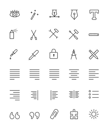 Graphic Design Icons - Thin Line Icon Set