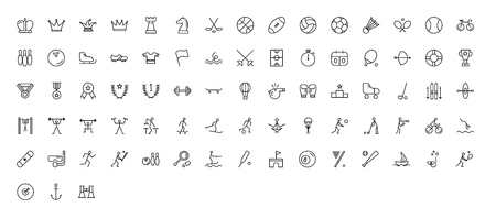 Sport Icons - Thin Line Icon Set