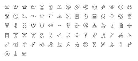 Sport Icons - Thin Line Icon Set