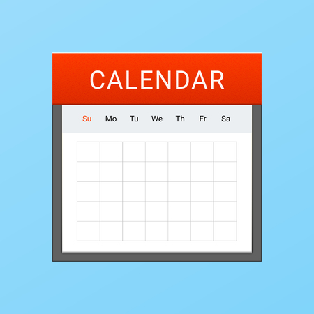 Vector Calendar Icon Illusztráció