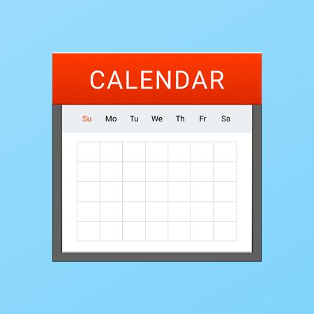 Vector kalender icoon Stock Illustratie