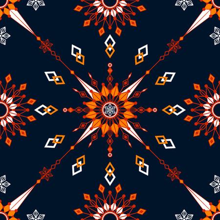 Contrasting symmetrical pattern of geometric shapes Illustration