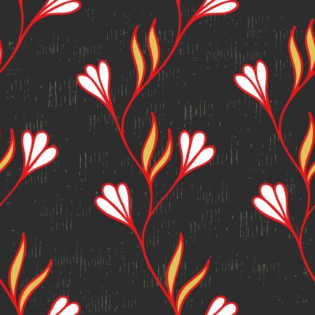 convolvulus: Background of climbing flowers (seamless pattern) Illustration