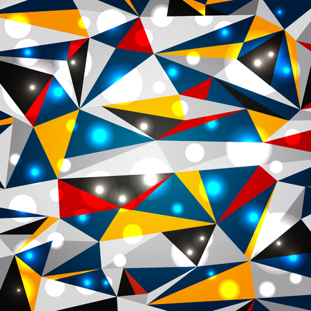 Modern geometric background with glowing elements