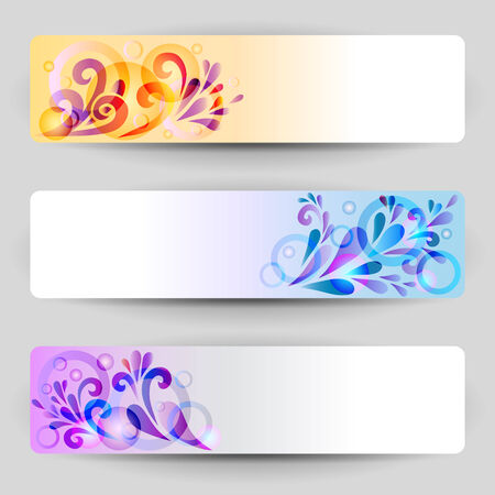 set of banners with abstract decoration Illustration