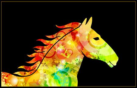 gee gee: original textured horse Illustration
