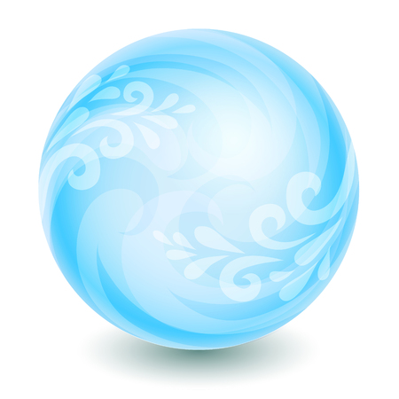 Isolated blue ball with elegant decoration Vector