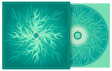 CD and CD cover with abstract decoration.