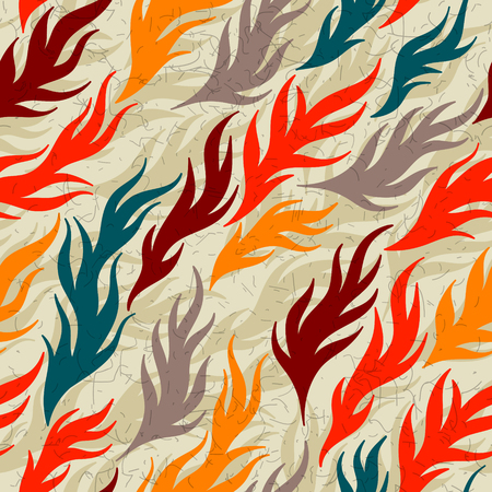 villi: Abstract seamless wallpaper tile for wrapping paper or others. Illustration