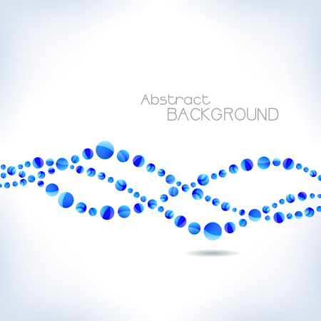 Background with blue abstract wave. Vector illustration. Vector