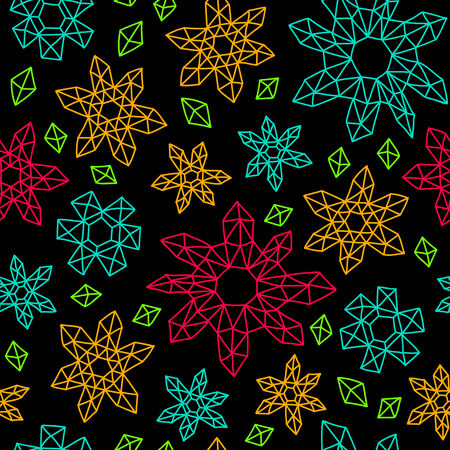 geometric style: Vector contrast seamless background in geometric style.
